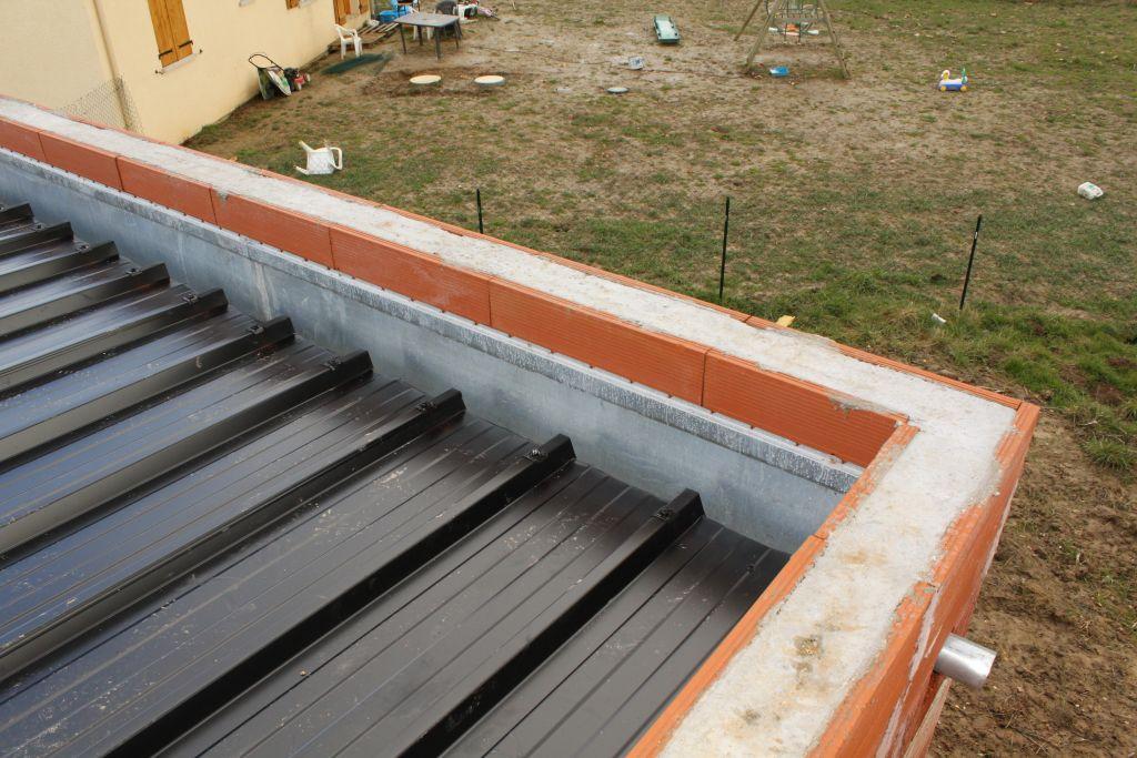 bac acier ou toit terrasse