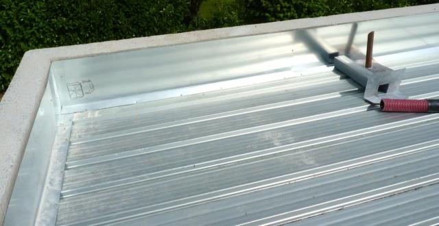 bac acier toit plat
