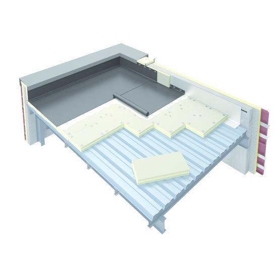 Panneau léger isolant pour toiture terrasse sur bac acier
