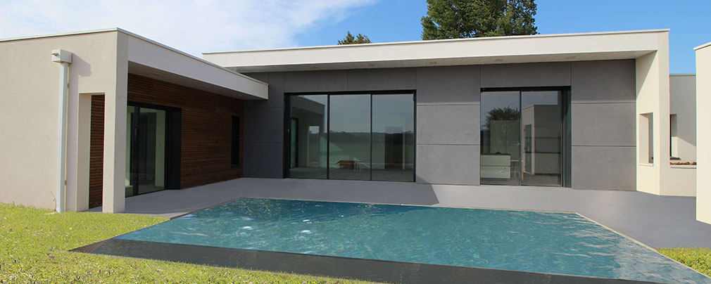 Maison contemporaine d architecte béton bois posite à Albi