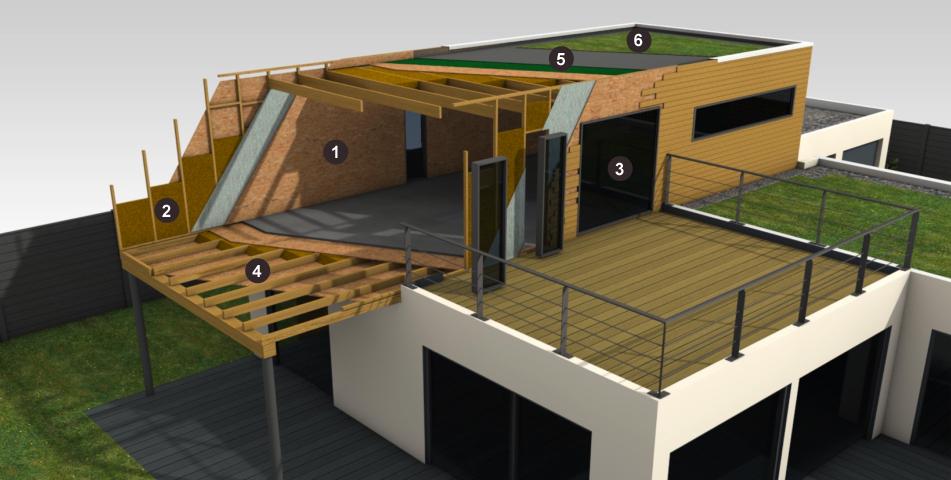 Maison ossature bois Bois et Passion