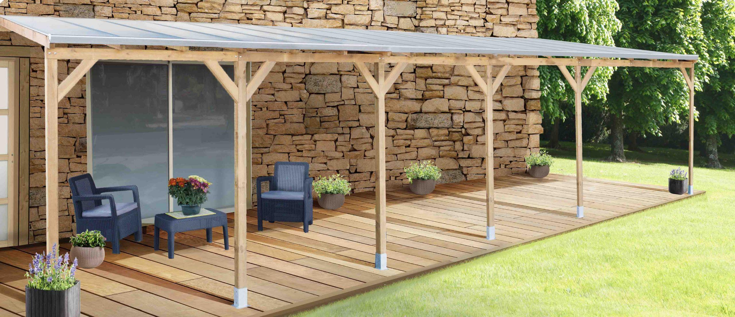 PALRAM La maison du jardin Le Toit Terrasse en bois avec