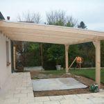 Toit Terrasse Bois Pergola Bois Murale 6 00 X 4 00 Mètres Sapin & toiture