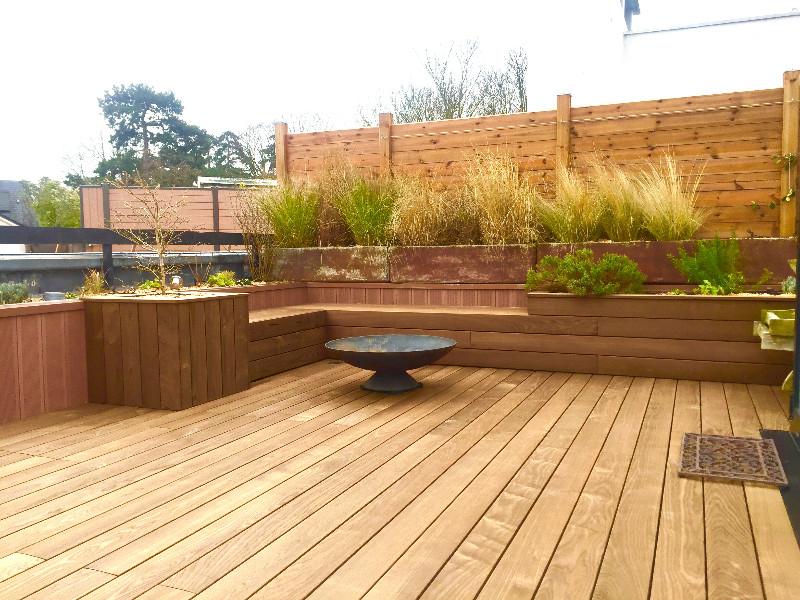 Toit terrasse avec revetement bois sur SCEAUX 92