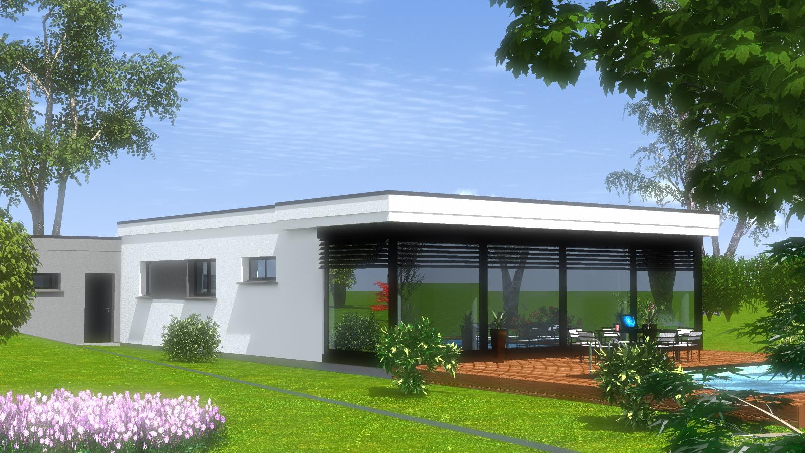 Toit Terrasse Maison Construction Maison toit Plat Maisons Begimaisons Begi