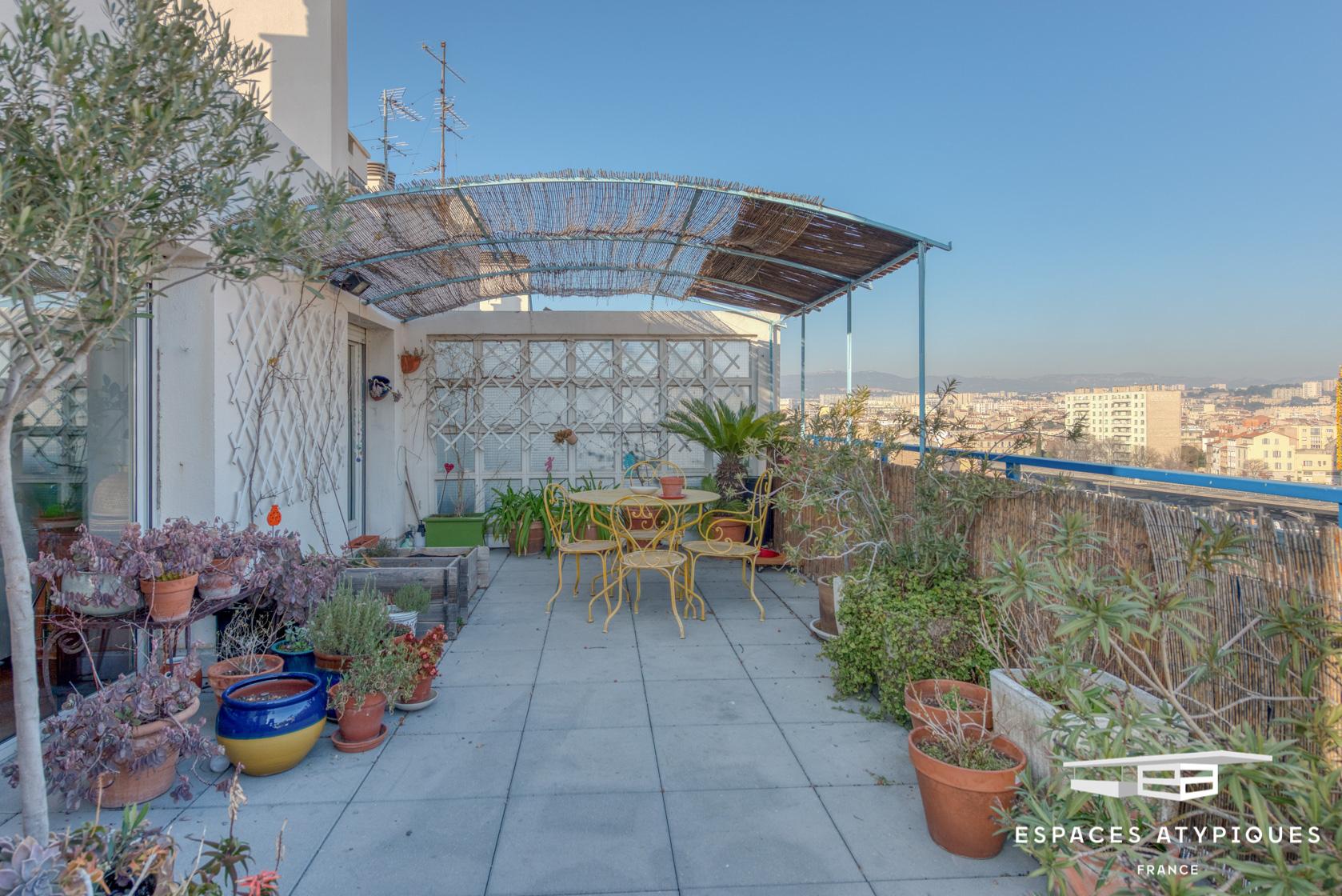 Marseille Vilette Toit terrasse triple exposition