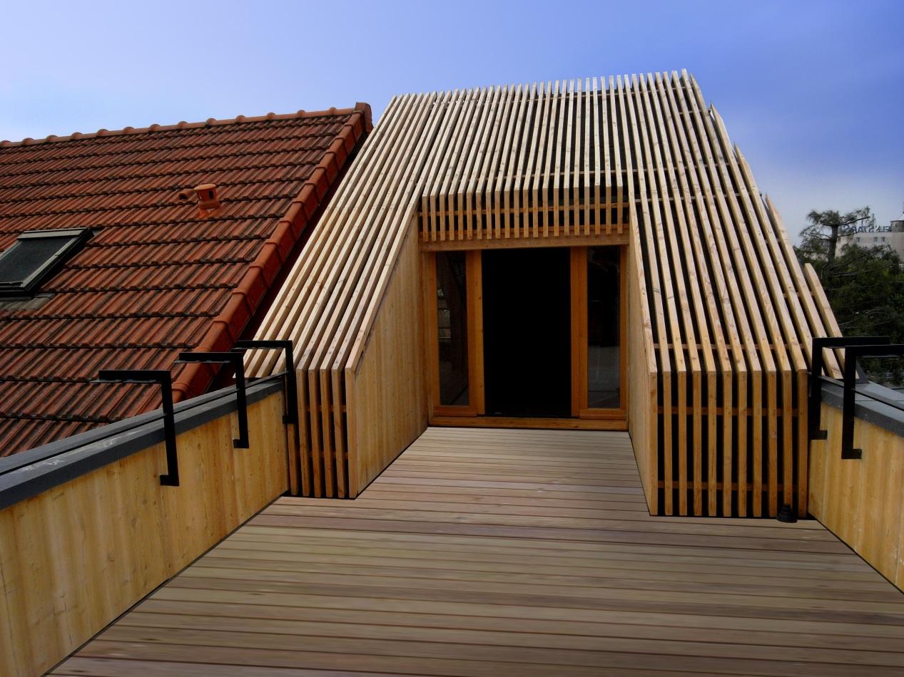 Extension passive en bois 2010 T design architecture