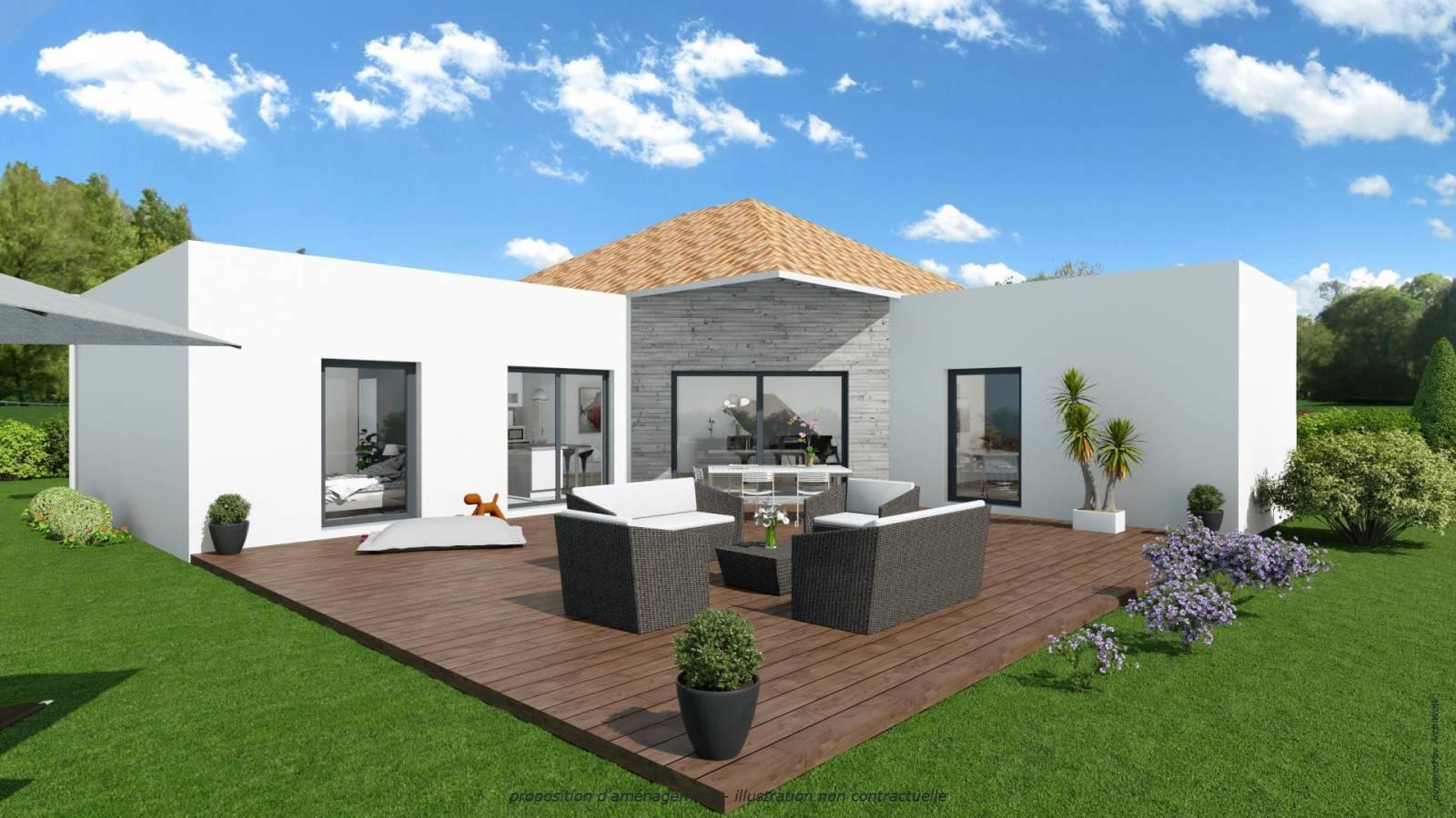 Constructeur de maison contemporaine avec toiture terrasse