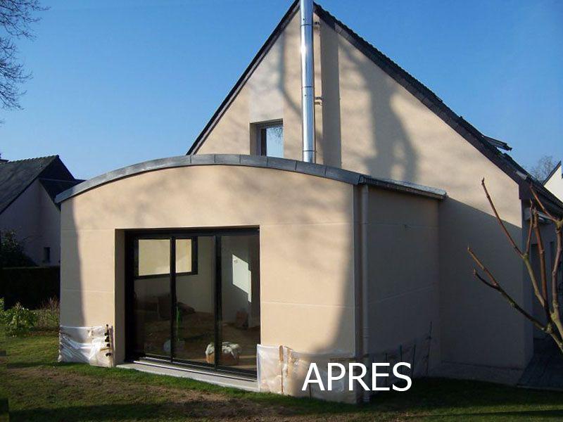 Extension toiture cintrée en zinc Châteaubourg