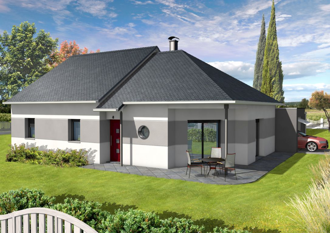 "Maison Modulable ""Aria avec terrasse d angle MDF Ouest"