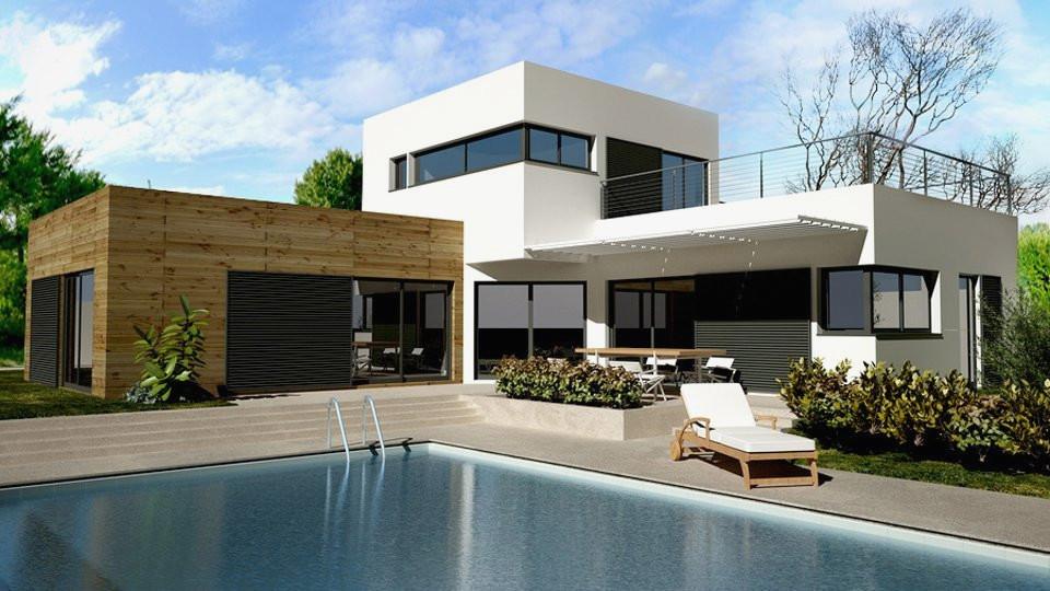 Maison toit Plat En L Élégant toit Terrasse Prix Moyen Au