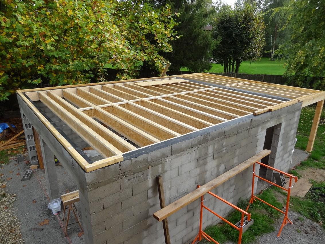 Garage parpaing toit plat Maison François Fabie