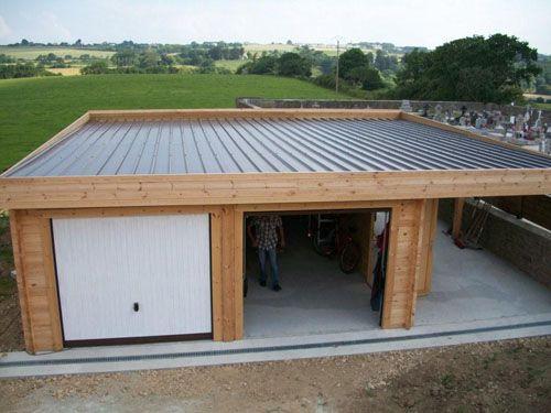 garage toit plat avec buché garage en 2019