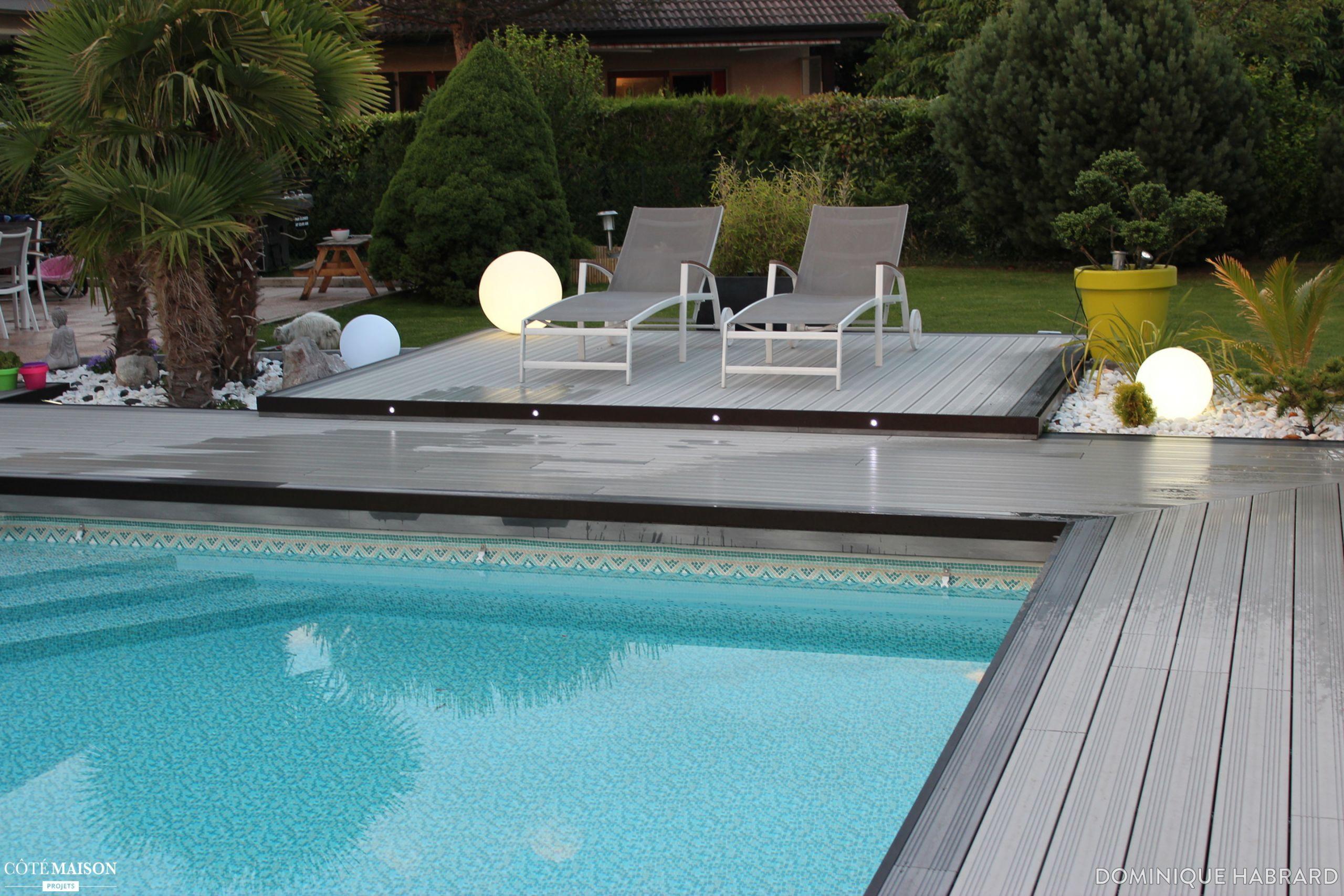 Rénovation d une plage de piscine en bois posite gris
