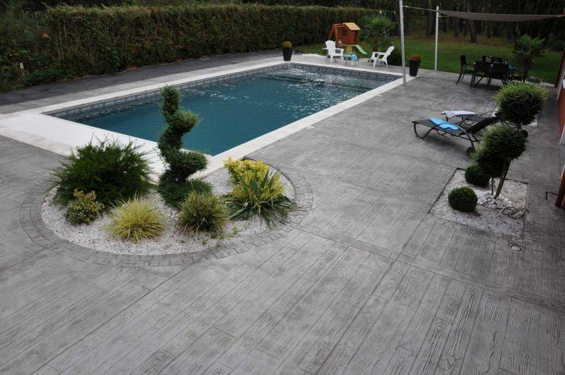 Terrasse Piscine Beton Imprimé LB56