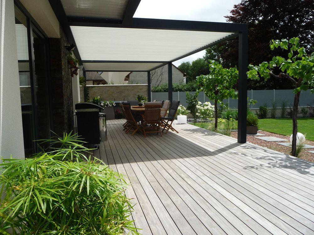 Terrasse bois et bois posite