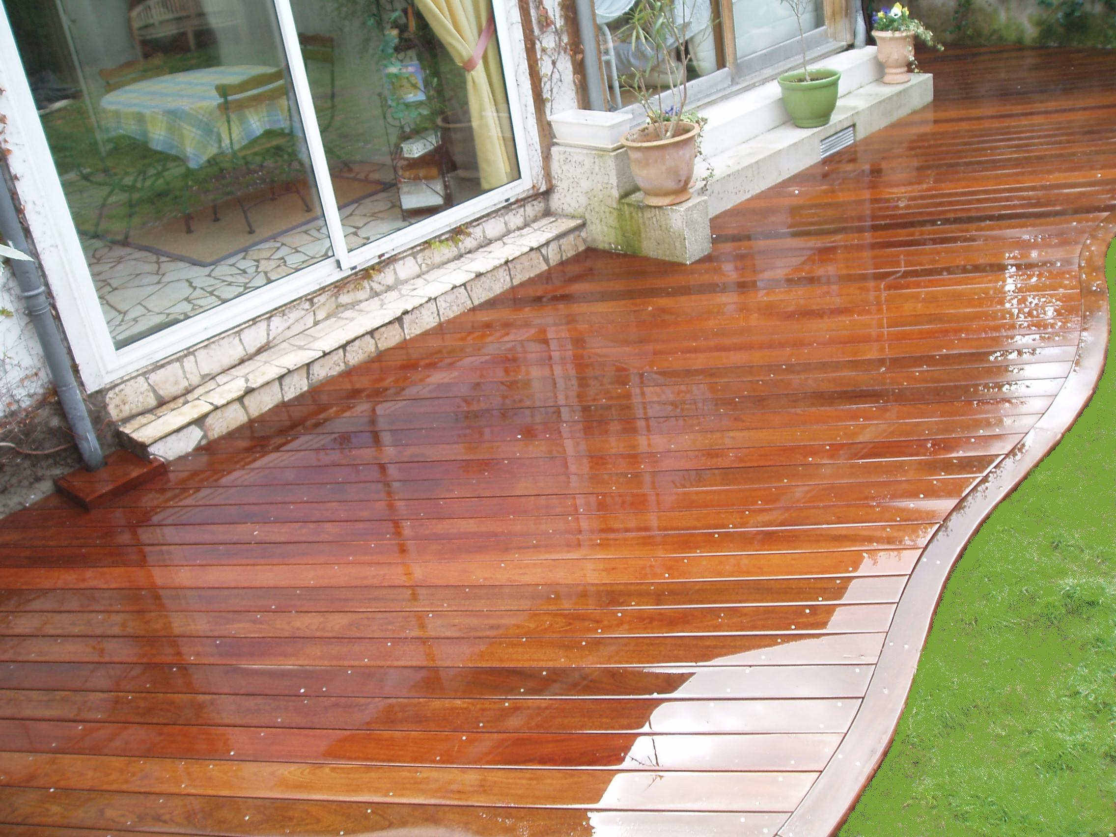 terrasse piscine bois entretien