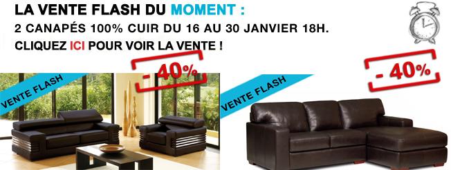Vente Flash Canapé Fauteuil Cuir Canapé Show
