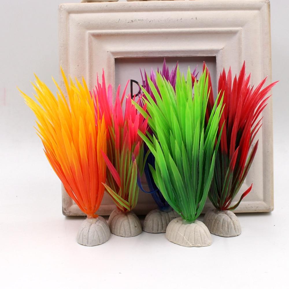 10 Adet Yapay Çiçekler Diy Ev Akvaryum Plastik Sucul ... avec Salon De Jardin Hawai