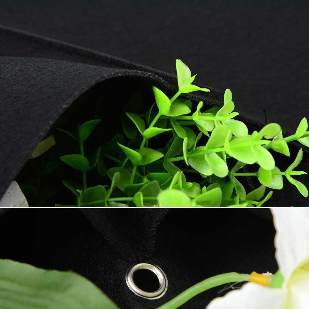 12/18 Cepler Bitki Yetiştirme Çantası Dikey Yatay Yeşil Asılı Duvar Bahçe  Fide Bitki Büyümek Çanta Ekici Siyah pour Salon De Jardin Discount