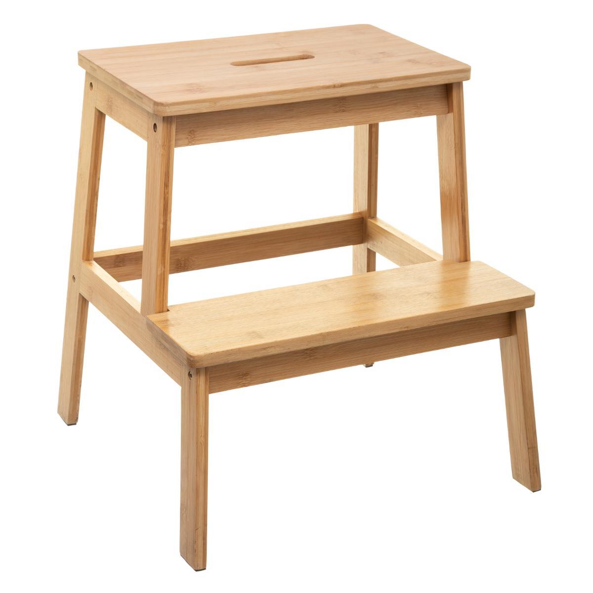 2 Couleurs Couleur : Wood Lixiong Escabeau Pliant Tabouret ... à Escabeau Jardin