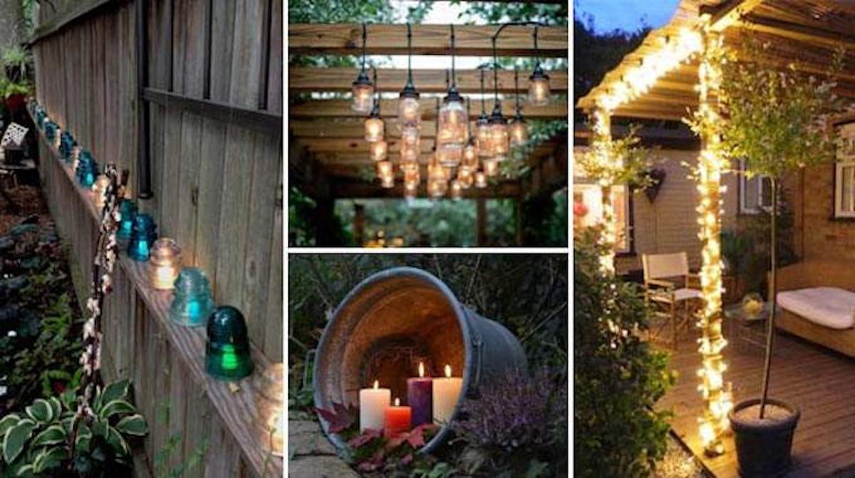 29 Super Idées D'éclairage Pour Le Jardin (Pas Chères Et ... concernant Decoration De Jardin A Faire Soi Meme