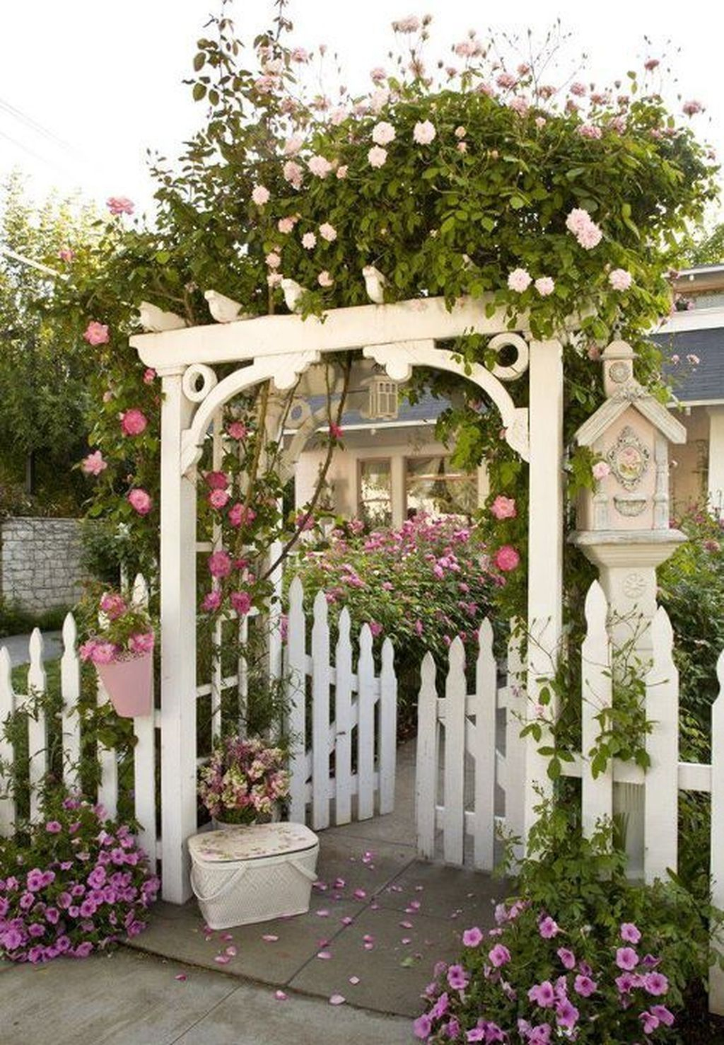 36 Stunning Front Yard Cottage Garden Landscaping Ideas ... dedans Tonelle De Jardin