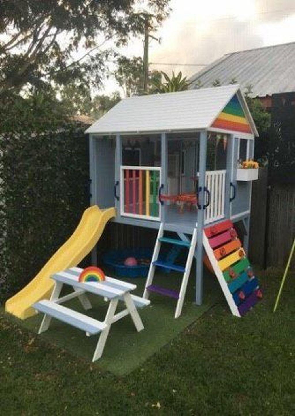 40+ Astonishing Backyard Playground Design Ideas To Try Asap ... avec Maison De Jardin Pour Enfant