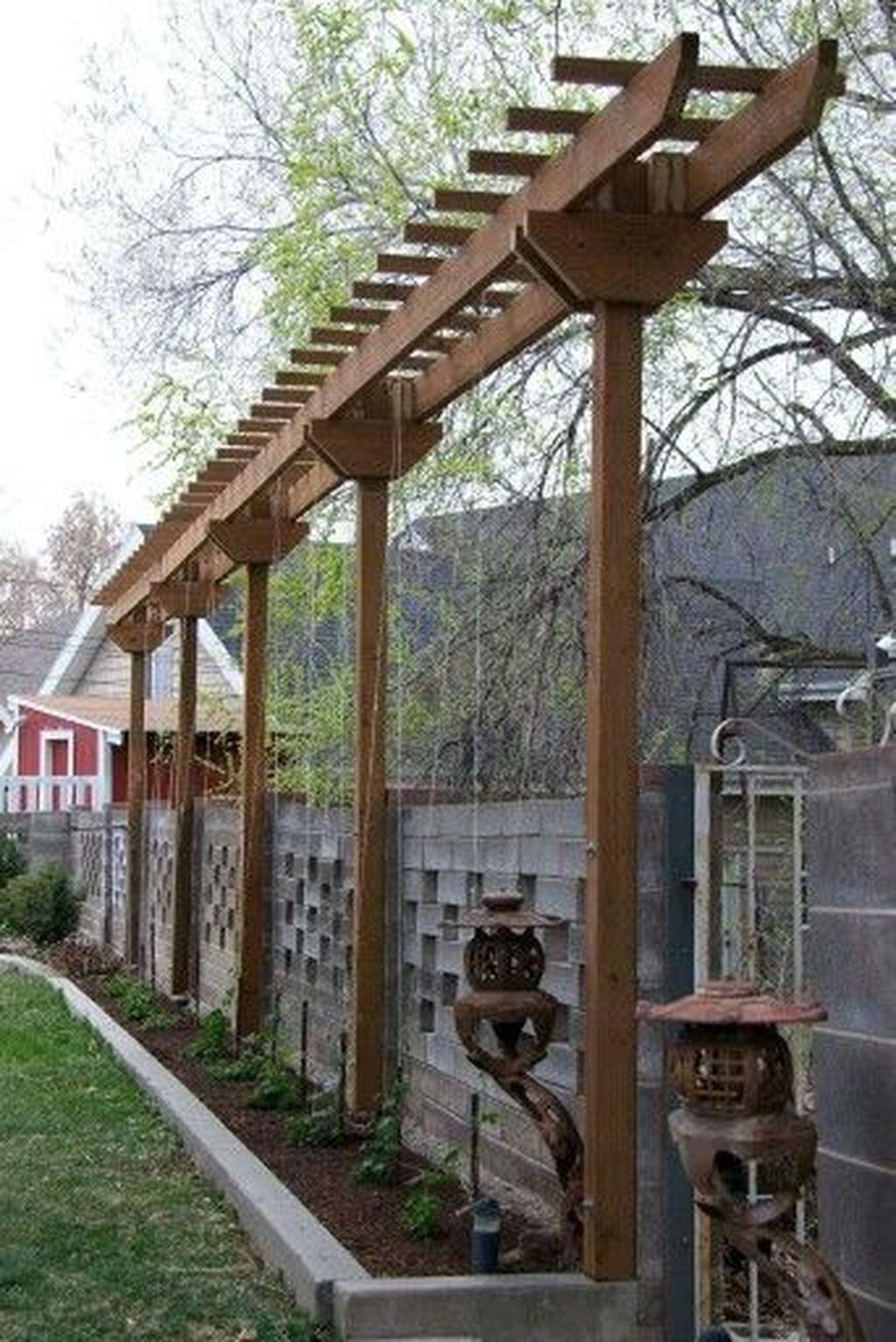 44 Awesome Pergola Trellis Ideas For Your Front Yard ... tout Tonelle De Jardin