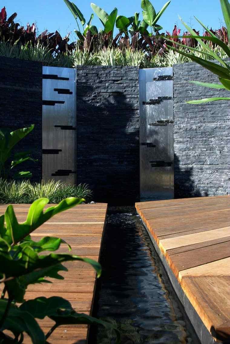 48 Idées D'un Mur D'eau Original Pour Votre Jardin dedans Separation De Jardin