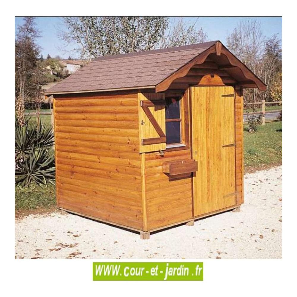 Abri Bois Alsace 4M² - Abris Et Rangements- Cour Et Jardin encequiconcerne Abri Jardin 4M2