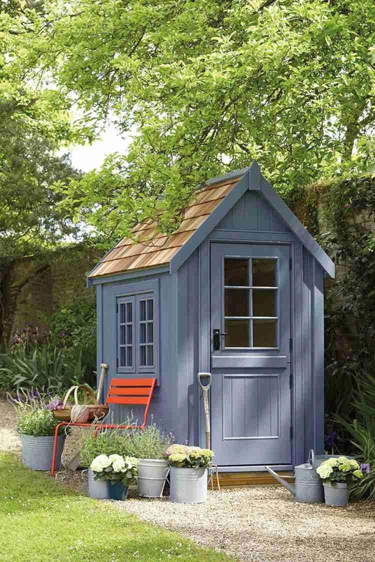 Abri De Jardin -23 Idées Pour Mieux Utiliser Votre Cabane ... tout Peinture Abri De Jardin