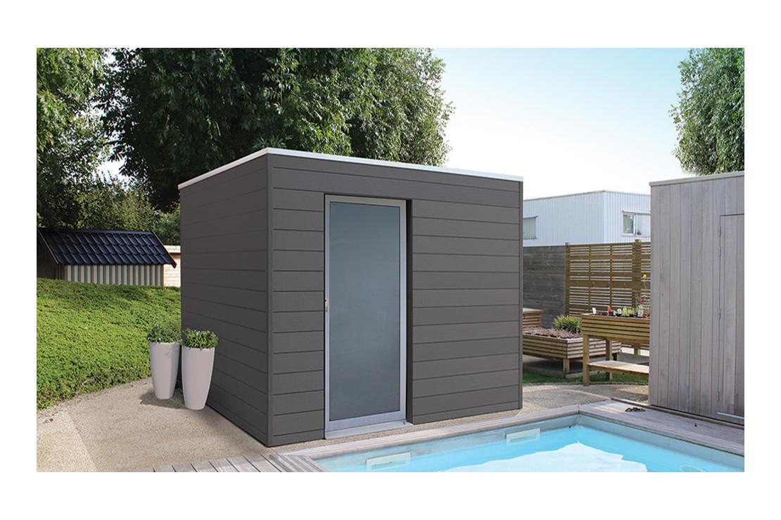Abri De Jardin Box Wpc Tokyo E, 3X2M Composite destiné Toiture Abri De Jardin Castorama