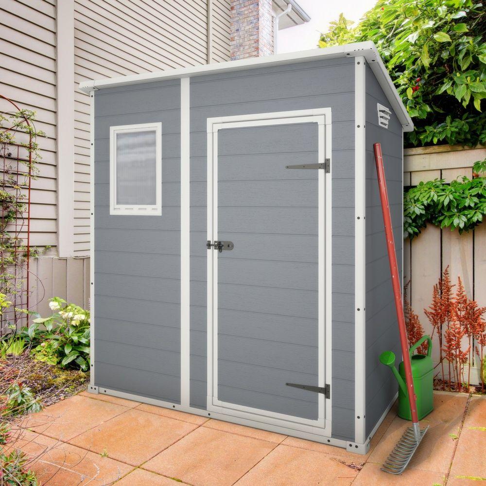 Abri De Jardin En Résine Keter Premium 64 1,6 M² Ep. 16 Mm destiné Petit Abris De Jardin