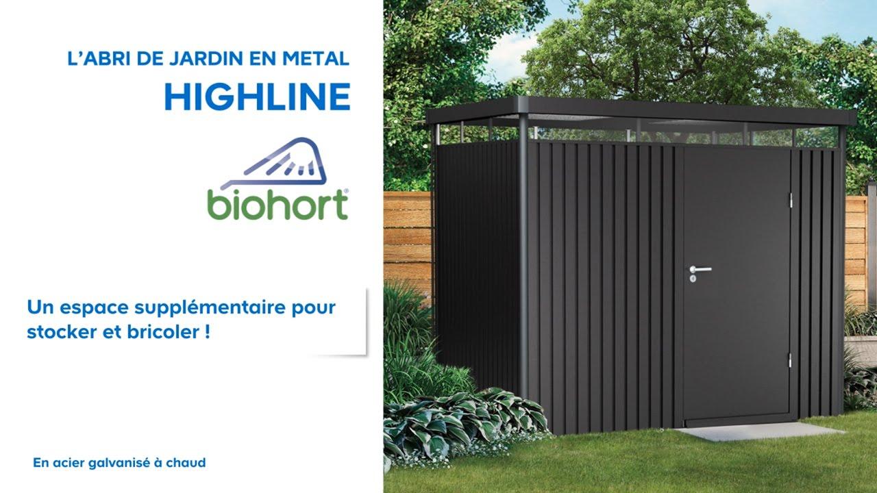 Abri De Jardin Métal High Line Biohort (638047) Castorama pour Toiture Abri De Jardin Castorama