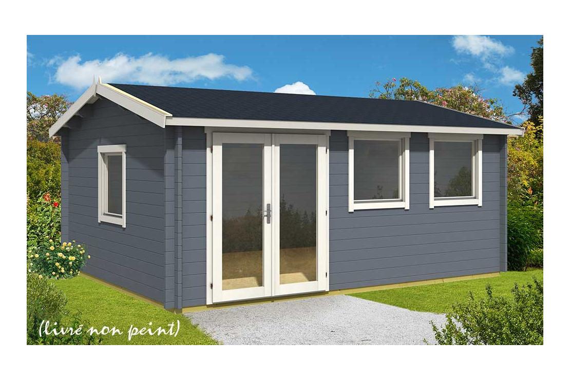Abri De Jardin Nice 44 Mm Sans Plancher- 19,1M² Intérieur avec Abris De Jardin 20M2