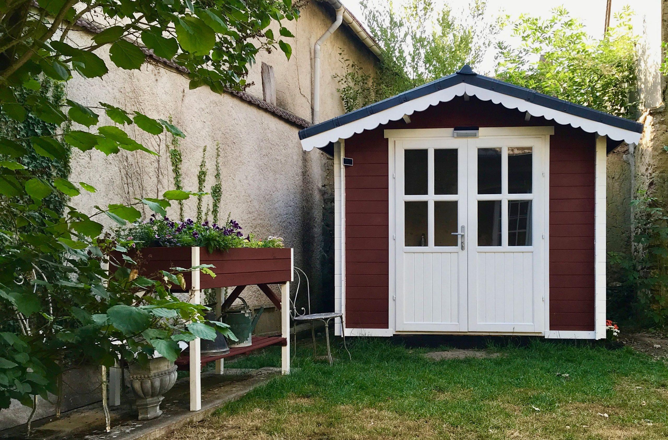Abri De Jardin Peinture Suédoise Rouge | Abri De Jardin ... destiné Peinture Abri De Jardin