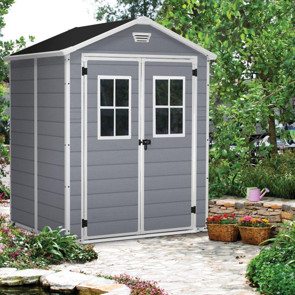 Abri De Jardin Résine Keter Premium 65 Gris 2,81 M² Ep. 16 Mm avec Abris De Jardin En Résine