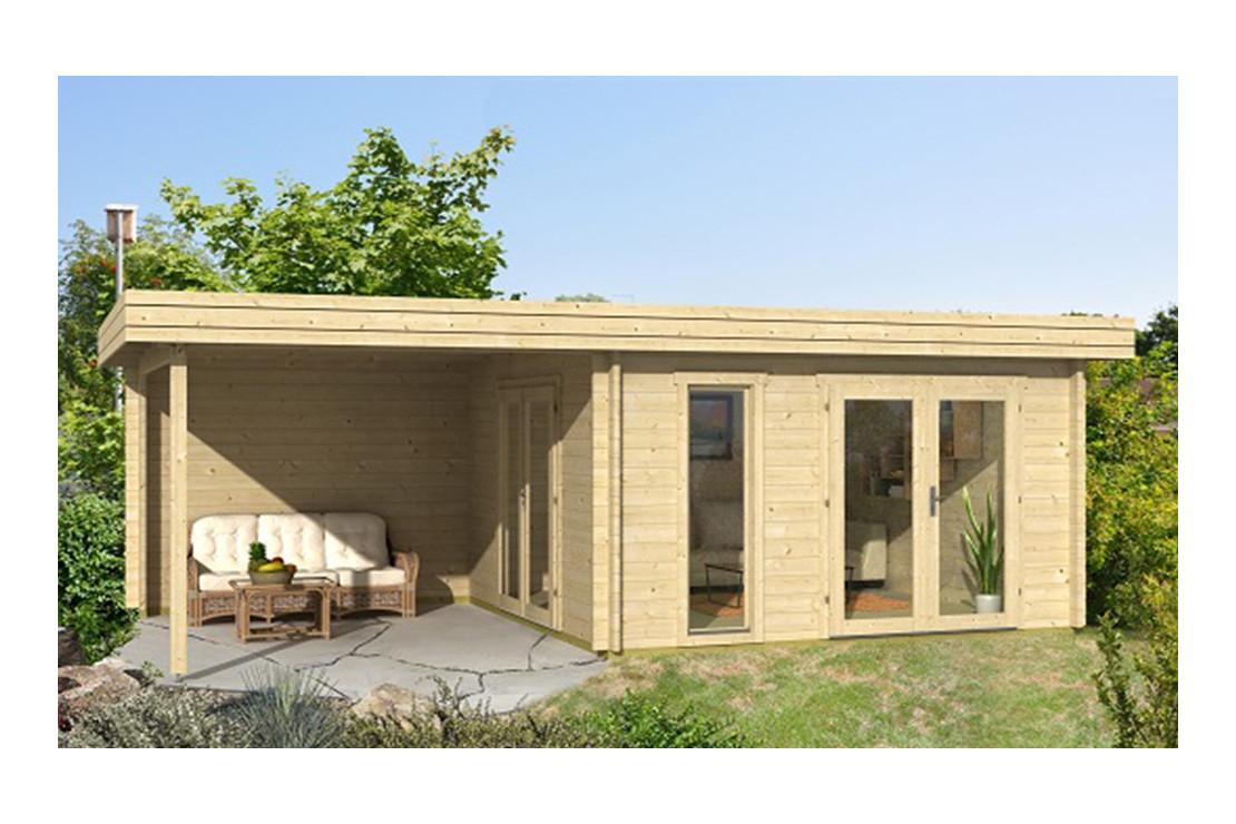 Abri De Jardin Rodez 44 Mm - 12,3 M² Intérieur + 9,4M² avec Chalet De Jardin.fr