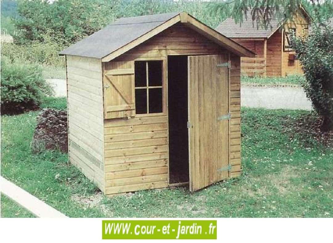 Abri De Jardin Sarlat 4M² - Abris Et Rangements- Cour Et Jardin concernant Abri Jardin 4M2