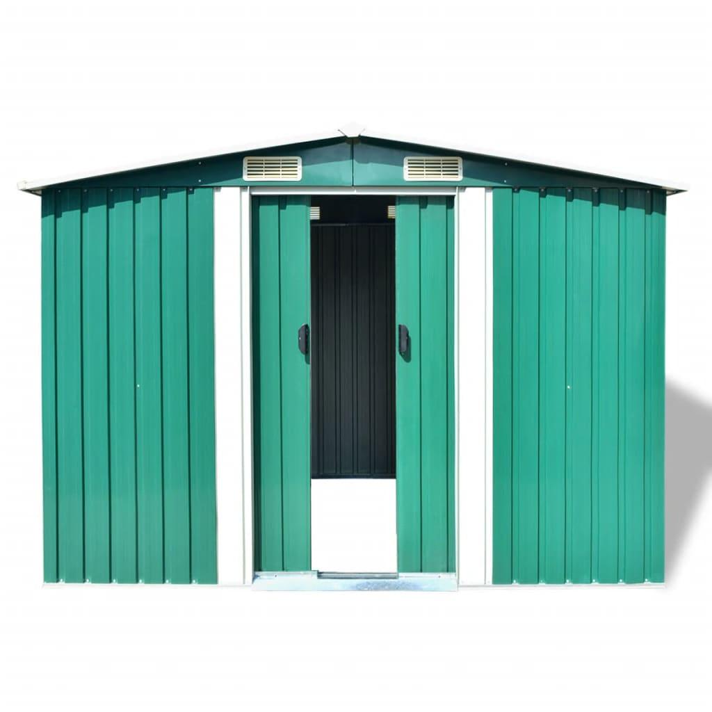 Abri De Stockage Pour Jardin Métal Vert 257 X 205 X 178 Cm ... dedans Abris De Jardin Carrefour
