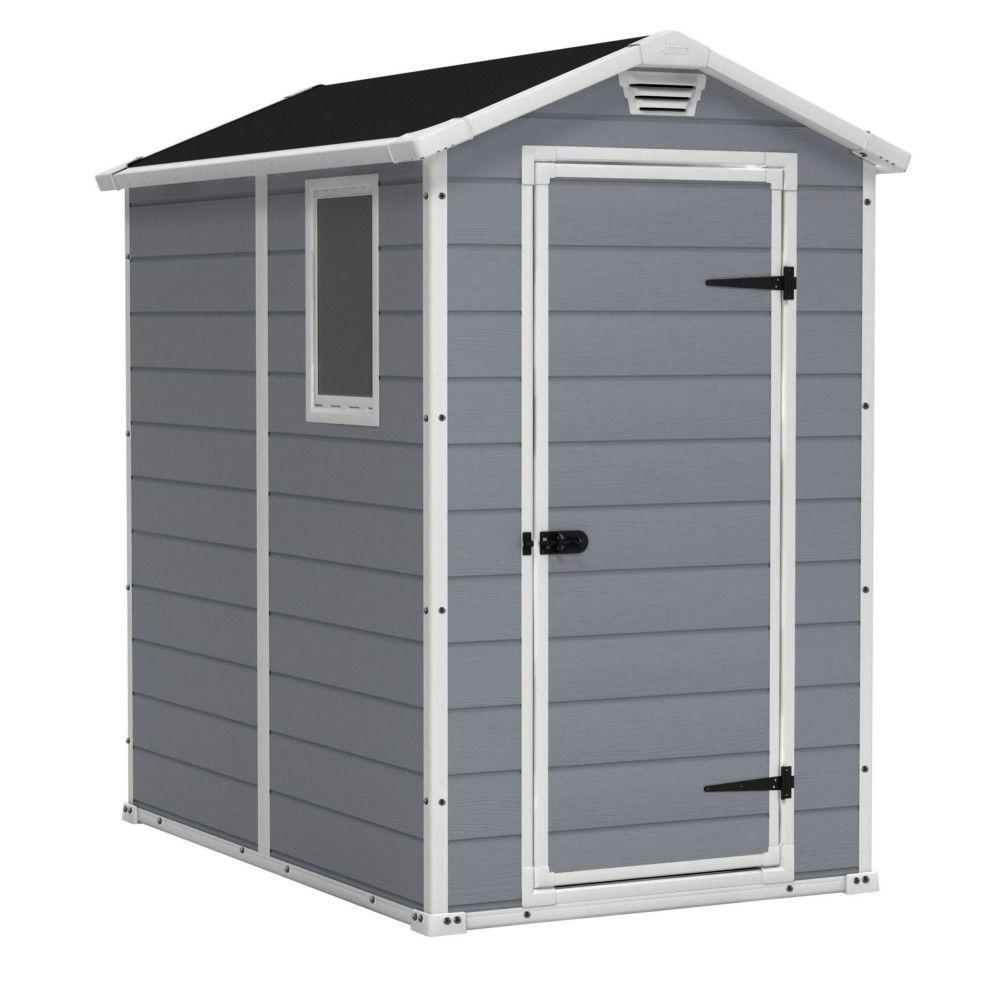 Abri Keter Premium 46Sp Gris 1 Fenêtre Fixe 1.96M2 - Abris ... pour Cabane De Jardin Pvc