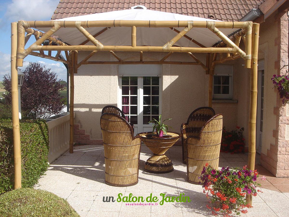 Abris De Jardin: Tonnelle Bambou Meubles Jardin Bambou concernant Tonnelle De Jardin En Bois