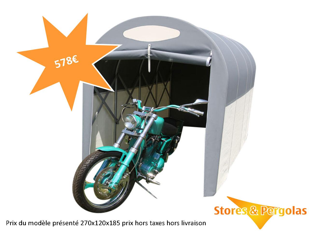 Abris Tunnels | Stores & Pergolas concernant Abri Moto Jardin