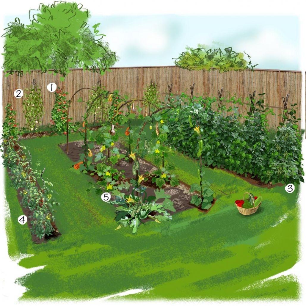 Ahurissant-Beautiful-Idee-Deco-Jardin-Potager-Photos ... dedans Exemple D Aménagement De Jardin