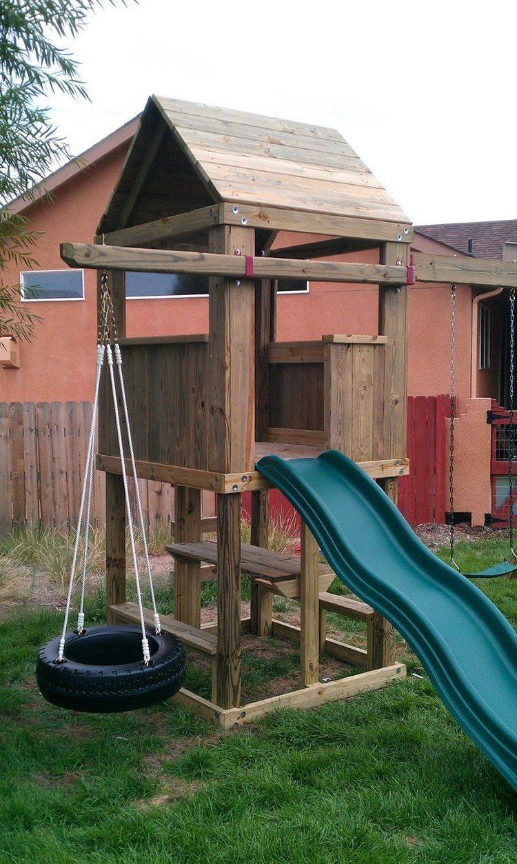 Aire De Jeux Pour Jardin - Idées En Images Pour Valoriser L ... à Cabane De Jardin Enfant Bois