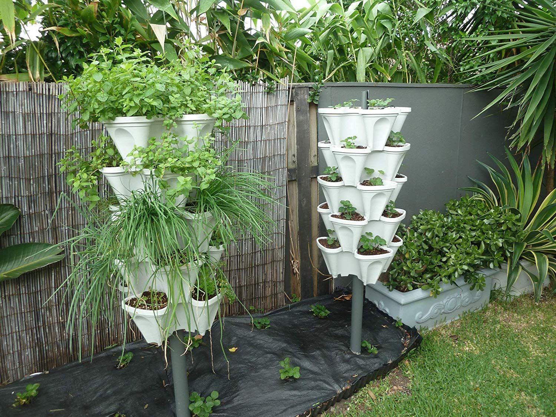 Amazon: 5 Tier Stackable Strawberry, Herb, Flower, And ... dedans Serre De Jardin Amazon