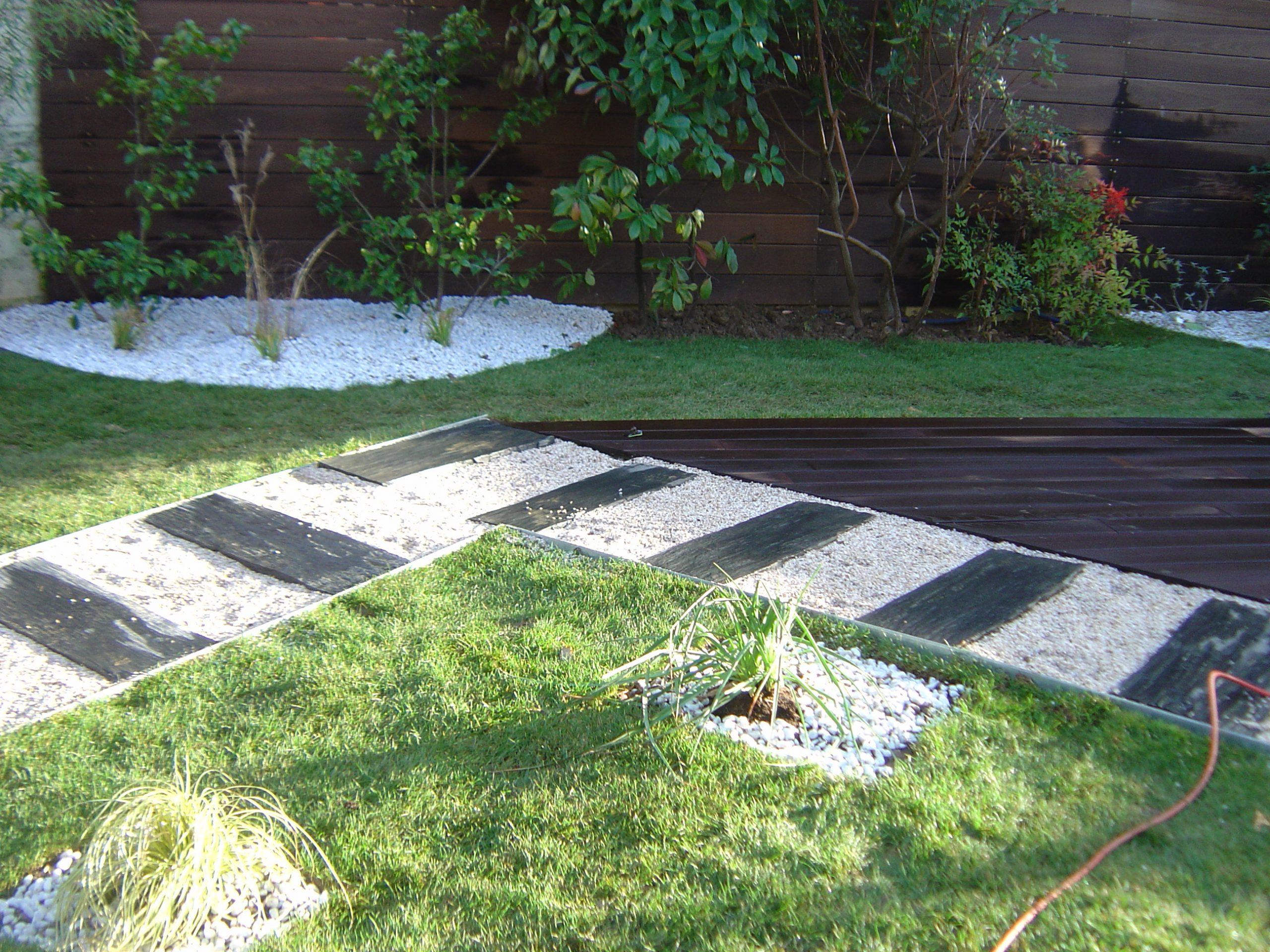 Aménagement Du Jardin Et De La Terrasse Dans Le 91 pour Exemple D Aménagement De Jardin