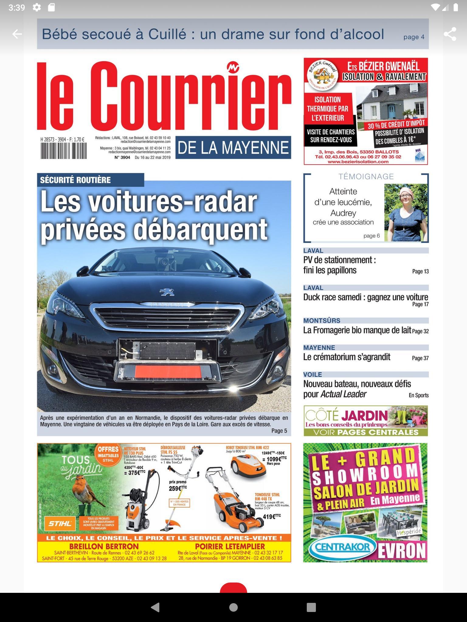 Android Için Le Courrier - Apk'yı İndir avec Centrakor Salon De Jardin