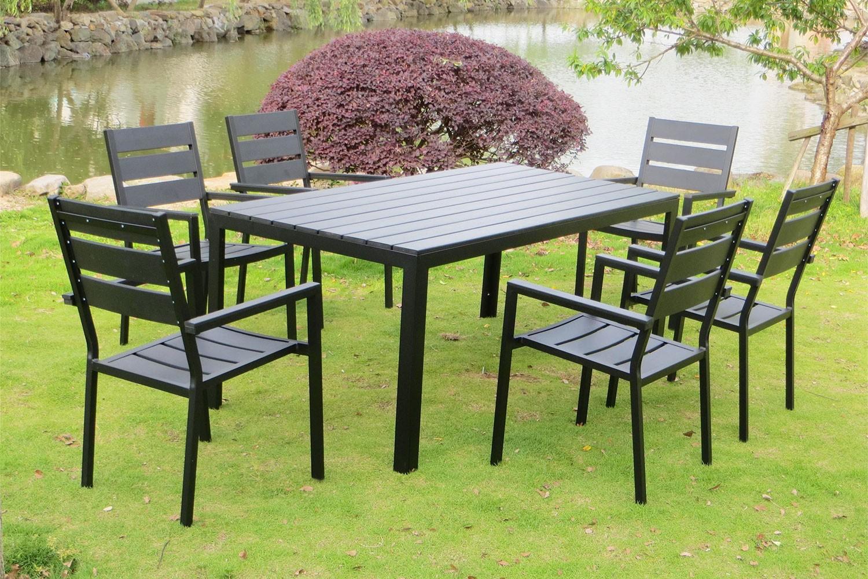Anzio 6 encequiconcerne Ensemble Table Et Chaise De Jardin Pas Cher